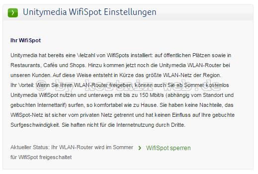 Unitymedia Wifispot Sperren