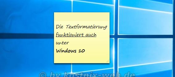kurznotizen windows xp